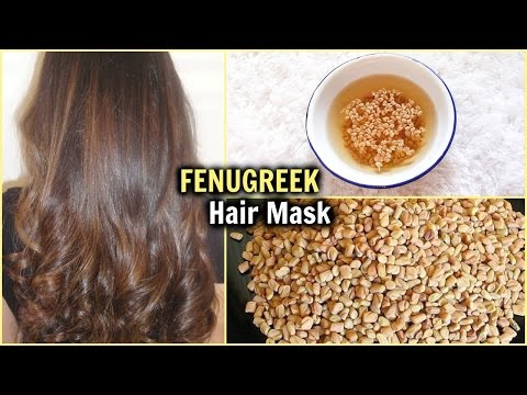 BEST NATURAL HAIR MASK FOR LONG, SHINY, GLOSSY, THICK HAIR│REGROW THIN HAIR w/ FENUGREEK METHI