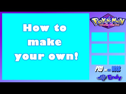 How to make Your OWN Pokemon Let's Play Layout + Template Download!