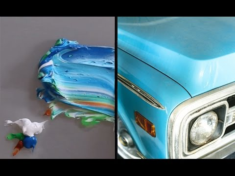 HD Paint Mixing - 'Really Bright Blue' Colour