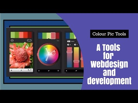Colorpic tools for color matching in  webdesign and development