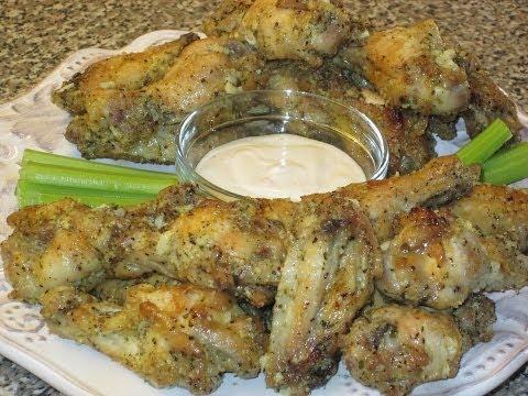 Baked Garlic & Parmesan Wings