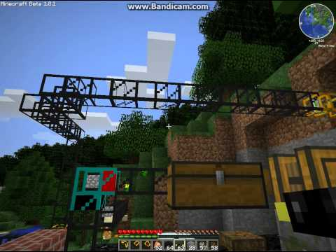 Minecraft water cooled nuclear reactor and uranium mining facility