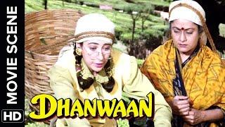 Karisma turns into a tea picker | Dhanwaan | Movie Scene
