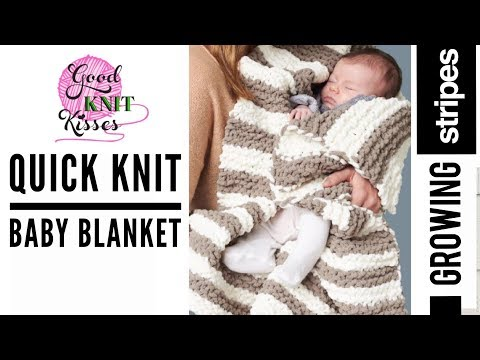 Quick Knit Baby Blanket (CC)