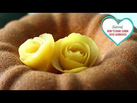 Tutorial: How To Make Roses with Lemon Peels
