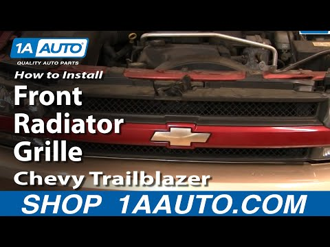 How To Install Repair Replace Front Radiator Grille Chevy Trailblazer 02-05 1AAuto.com