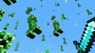 minecraft but it rains creepers