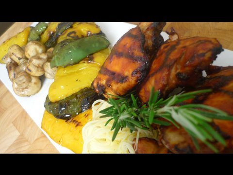 BBQ Chicken on the Open Flame with Roasted Veggies