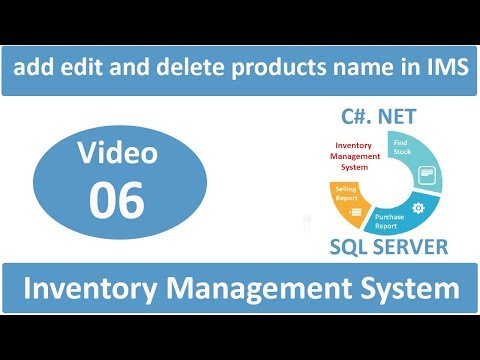 how to add edit and delete products name in Inventory Management System