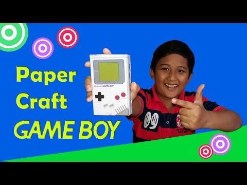 DIY Game Boy Paper Craft | Membuat Paper Craft Game Boy