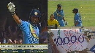 India vs Australia 3rd ODI 2001 Highlights | Sachin Reaches 10,000 ODI Runs, India Crush Australia!!