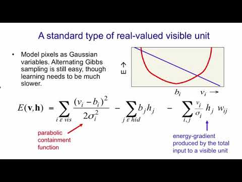 Lecture 14.4 — Modeling real valued data with an RBM — [ Deep Learning | Geoffrey Hinton | UofT ]