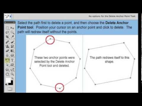 How to use the Adobe Photoshop CS5 Add/Delete Anchor Point Tool