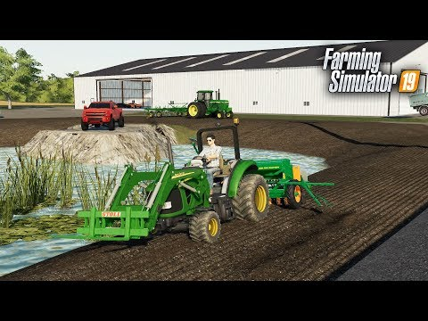 Download FS19- FIRST LANDSCAPING PROJECT! PLANTING GRASS AROUND THE