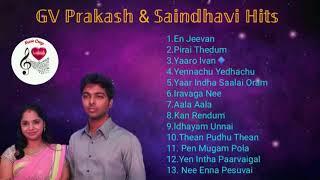 GV Prakash \u0026 Saindhavi Hits   Melody   Juke Box   Love Duets   Tamil songs   Music Craze  