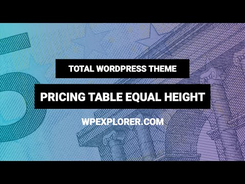 Equal Height Pricing Table - Total WordPress Theme