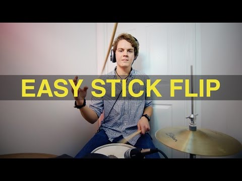 Easy Stick Flip - Drum Set Tutorial
