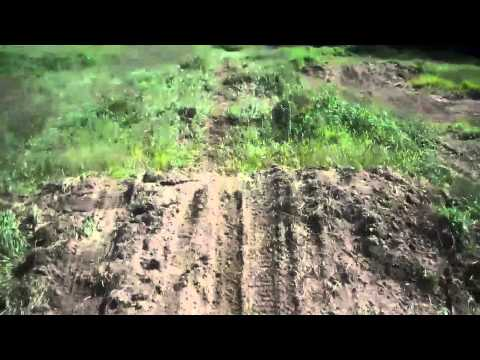 homemade dirtbike track