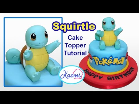 Pokemon: Squirtle Cake Topper / Cómo hacer a Squirtle para tortas