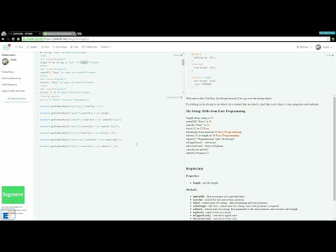 Easy JavaScript - String Methods (11)