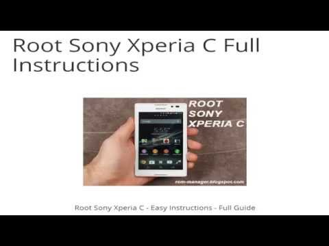 ROOT SONY XPERIA C - EASY GUIDE