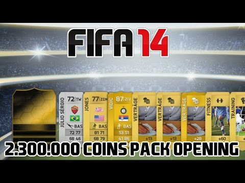 2.300.000 Coins Pack Opening - FIFA 14 [PS3] [Part 1]