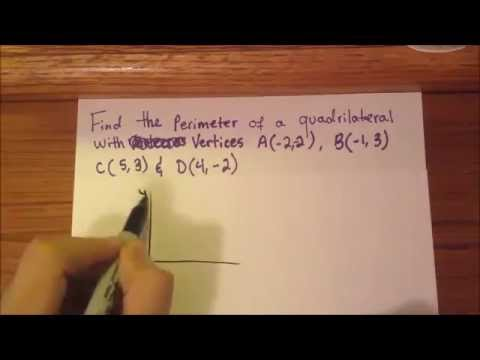 Math Question:  Finding the perimeter of a quadrilateral