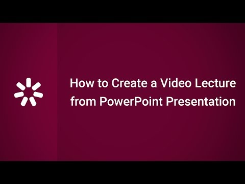 How to Create a Video Lecture from a PowerPoint Presentation