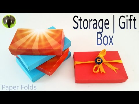 Storage   Gift Box with A4 sheet - DIY   Handmade   Tutorial by Paper Folds ❤️