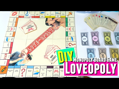 Lovopoly Board Game DIY, Anniversary gift DIY for him DIY gifts for boyfriend, HOW TO monopoly game