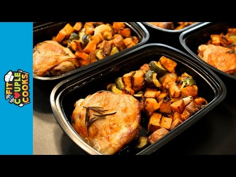 How to Meal Prep - Ep. 20 - ROAST CHICKEN & SQUASH ($4/Meal)