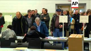 People Voting In Makeshift Polling Station In New York Voting In Ohio