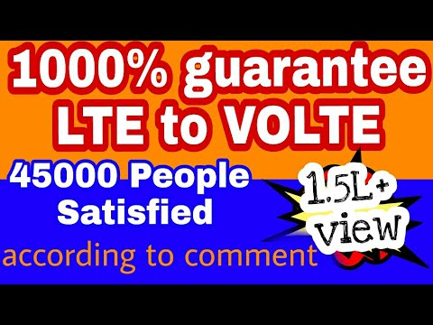 how to convert LTE TO VOLTE // 10000% LTE to volte convert