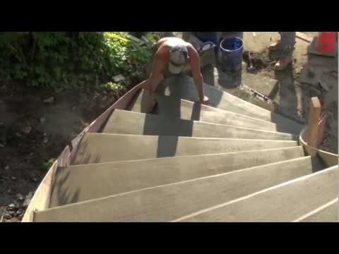 How to build Radius Concrete steps | Concrete and Cement work Contractor