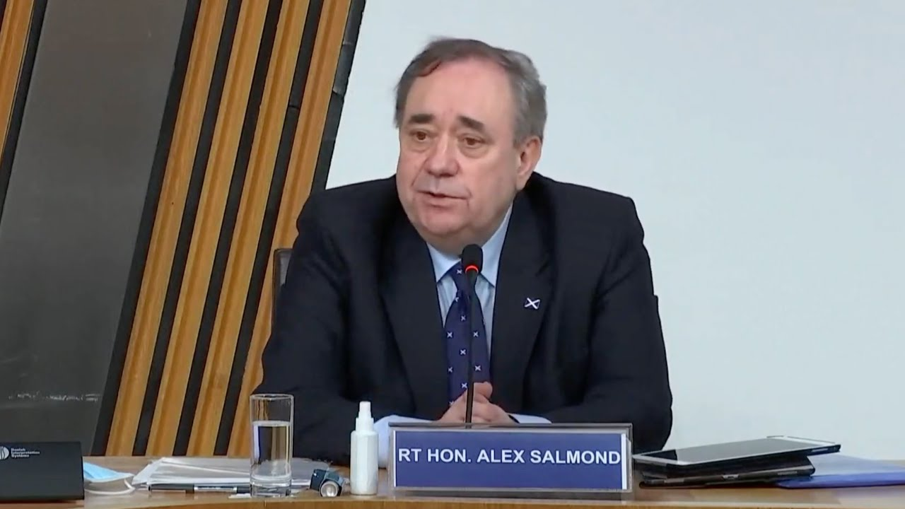 LIVE: Alex Salmond gives evidence in Holyrood inquiry