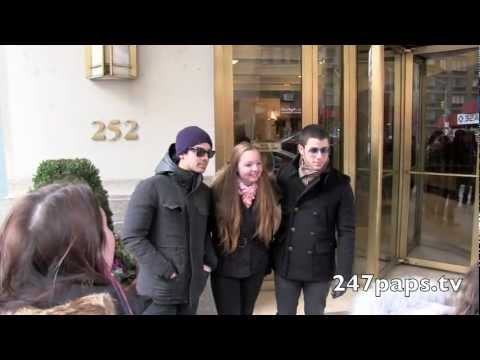 Joe Jonas with Girlfriend Blanda Eggenschwiler and Nick Jonas out and about in NYC (01-21-13)