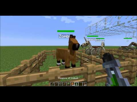 Minecraft 1.5.2 Mo' Creatures ~Horse Series~ Skeleton, Ghost, and Zombie Horses