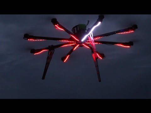 LED Strip on Octocopter
