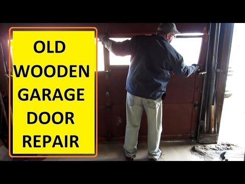 OLD Wood Garage Door Repair