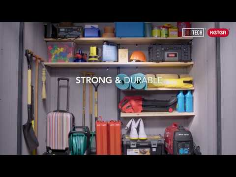 Keter DUOTECH sheds & outdoor storage products arrange your outdoors