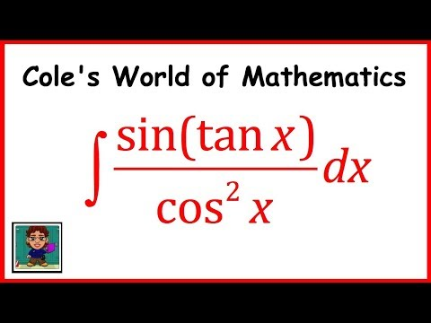 Integral of (sin(tanx))/cos^2x  ❖ Calculus 1 ❖ Trig Integrals