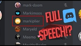 Markiplier Addresses His Discord Server (HQ Audio) [No Visuals] {CC}