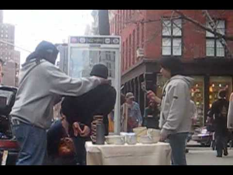 Arrest and Confiscation of Illegal Pottery Vendors in New York City