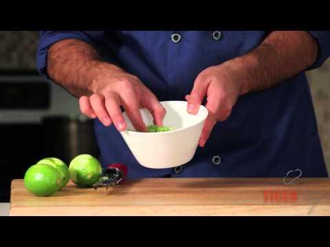 Lime Zest Garnish Recipe by Chef Dangoor -- TigerChef