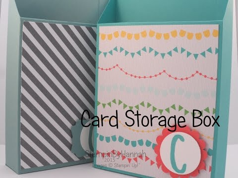 Card Storage Box using Stampin' Up! UK products