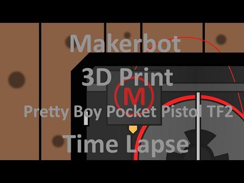 Makerbot 3D Print Pretty Boy Pocket Pistol TF2