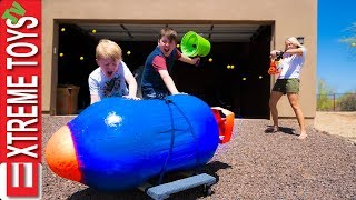 Download Babysitter Showdown Part 3! The Giant Nerf Dart, and the Nerf Auto Turret Blaster