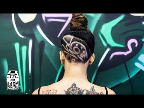 Undercut Hairstyle with Tattoos Hair for Women [Liem Barber Shop's collection]