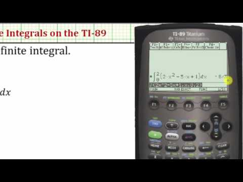 Evaluate Definite Integrals on the TI-89