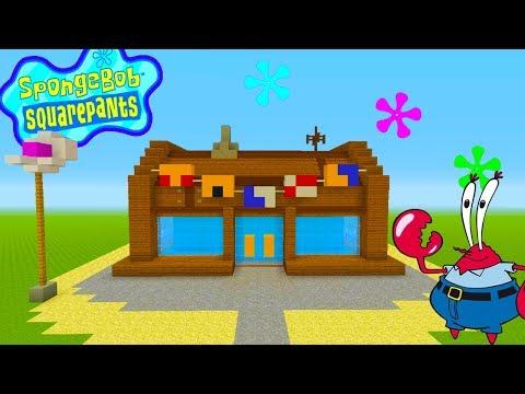 Minecraft Tutorial: How To Make The Krusty Krab